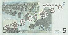5 Euro, Rückseite