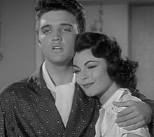 Elvis embraces Judy Tyler