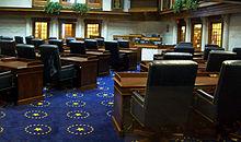 Indiana State Senate Chamber, Indiana Statehouse, Indianapolis, Indiana.jpg