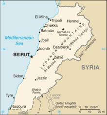 Mapa  República Libanesa
