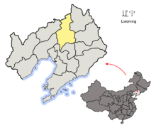 Location of Shenyang Prefecture within Liaoning (China).png