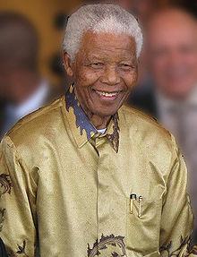 Nelson Mandela on his 90th birthday in 2008.