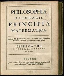 Newton - Principia (1687), title, p. 5, color.jpg