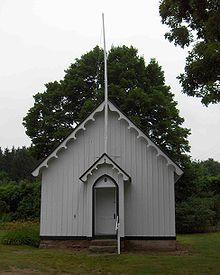 Pine Grove School House, a one-room school house built in 1865, located in Avon CT USA