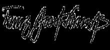 Franz Josef Strauß' Unterschrift