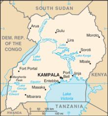Mapa  República de Uganda