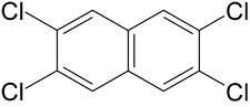 Struktur von 2,3,6,7-Tetrachlornaphthalin