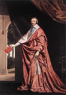 Obraz kardinála z roku 1637, Philippe de Champaigne