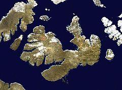 satelitní snímek ostrova