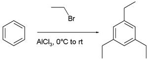 synthesis of 2,4,6-triethylbenzene