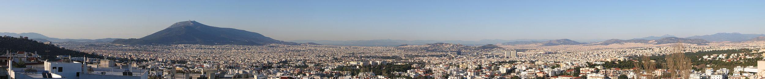Panorama da cidade vista do Areópago