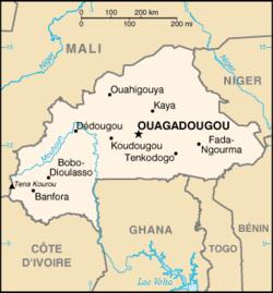 Mapa do Burkina Faso