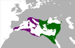 东罗马帝国位置图