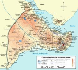 La Costantinopoli romano-bizantina, di cui si occupa principalmente questa voce.