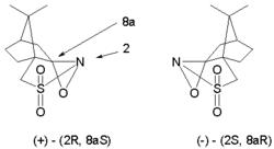 two optical isomers of camphorsulfonyl oxaziridine