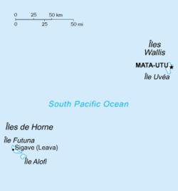 Wallis e Futuna - Mappa