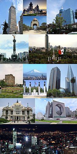墨西哥城景色的天際線