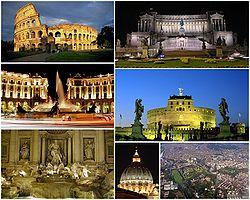 Koláž významných památek Říma