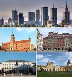 Finanční centrum, Královský hrad, Náměstí starého města, Presidentský palác, Palác Wilanów
