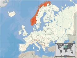 Norvegia - Localizzazione