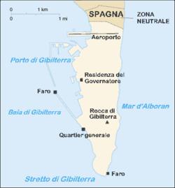Gibilterra - Mappa
