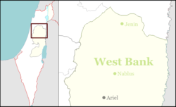 Yitzhar is located in the West Bank