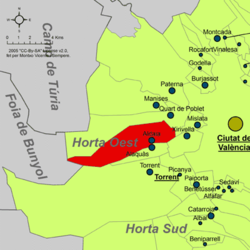 Aldaia – Mappa