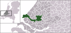 Lage von Rotterdam in den Niederlanden