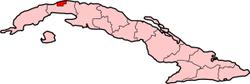 Localização de Havana