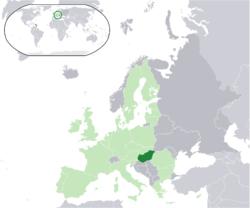 Ungheria - Localizzazione