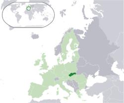 Slovacchia - Localizzazione
