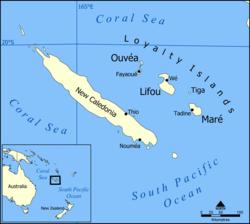 Nuova Caledonia - Mappa