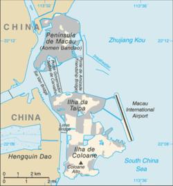 Macao - Mappa
