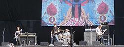 I Mastodon live durante l'Heineken Jammin' Festival 2007