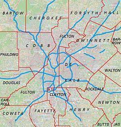 Johns Creek is located in Metro Atlanta