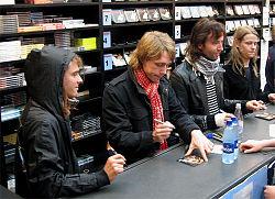 由左至右:Bo Madsen,Jonas Bjerre,Johan Wohlert,Silas Utke Graae Jørgensen