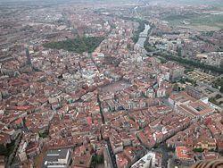 Letecký pohled na Valladolid