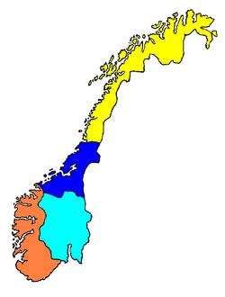 Mapa norských nářečí
