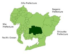 岡崎市位置圖