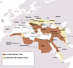 Impero ottomano - Localizzazione