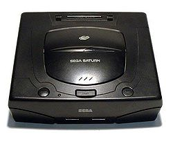 Sega Saturn video game console.
