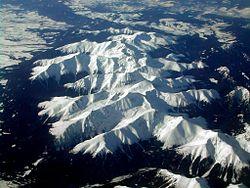 Západní Tatry, letecký snímek