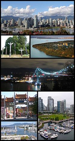 温哥华景象:福溪南岸、大學保留地、獅門橋、固蘭湖街橋、布勒橋、溫哥華華埠、史丹利公園