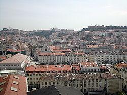 Pohled na Lisabon z výtahu Santa Justa