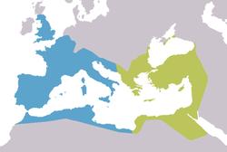 Impero d'Occidente - Localizzazione