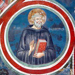 sv. Benedikt, freska v Subiacu, Umbrie, Itálie