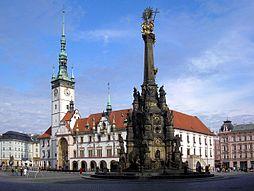 Horní náměstí s radnicí a Sloupem Nejsvětější trojice