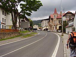 Centrum města Železná Ruda