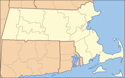 Location of Blue Hills Reservation in Massachusetts
