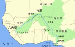 尼日尔河流域图